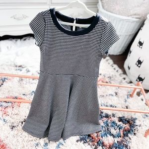 5/6Y Houndstooth Fit & Flare Dress